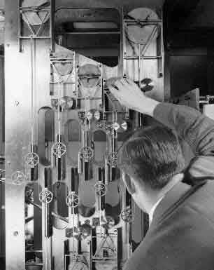 operator adjusting machine