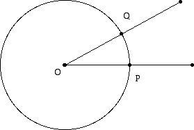 A sector of a Euclidean circle viewd from a taxicab point of view