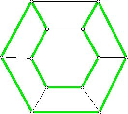 A second Hamiltonian circuit for a hexagonal prism