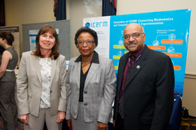 Jill Pipher with Cora Marrett, Deputy Director of the NSF and Sastry Pantula, Director of the Division of Mathematical Sciences at NSF