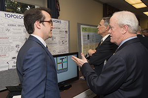 Prof. Robert Ghrist discussing his research with Rep. Jerry McNerney (CA-9)