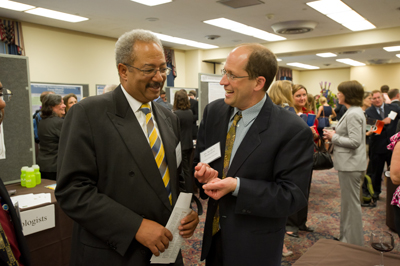 Prof. Keith Promislow with Rep. Chaka Fattah (D-PA), Member of the House Appropriations Committee Subcommittee on Commerce, Justice, Science and Related Agencies