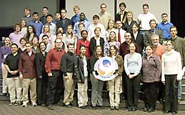 The 2004 Undergraduate Student Poster presenters