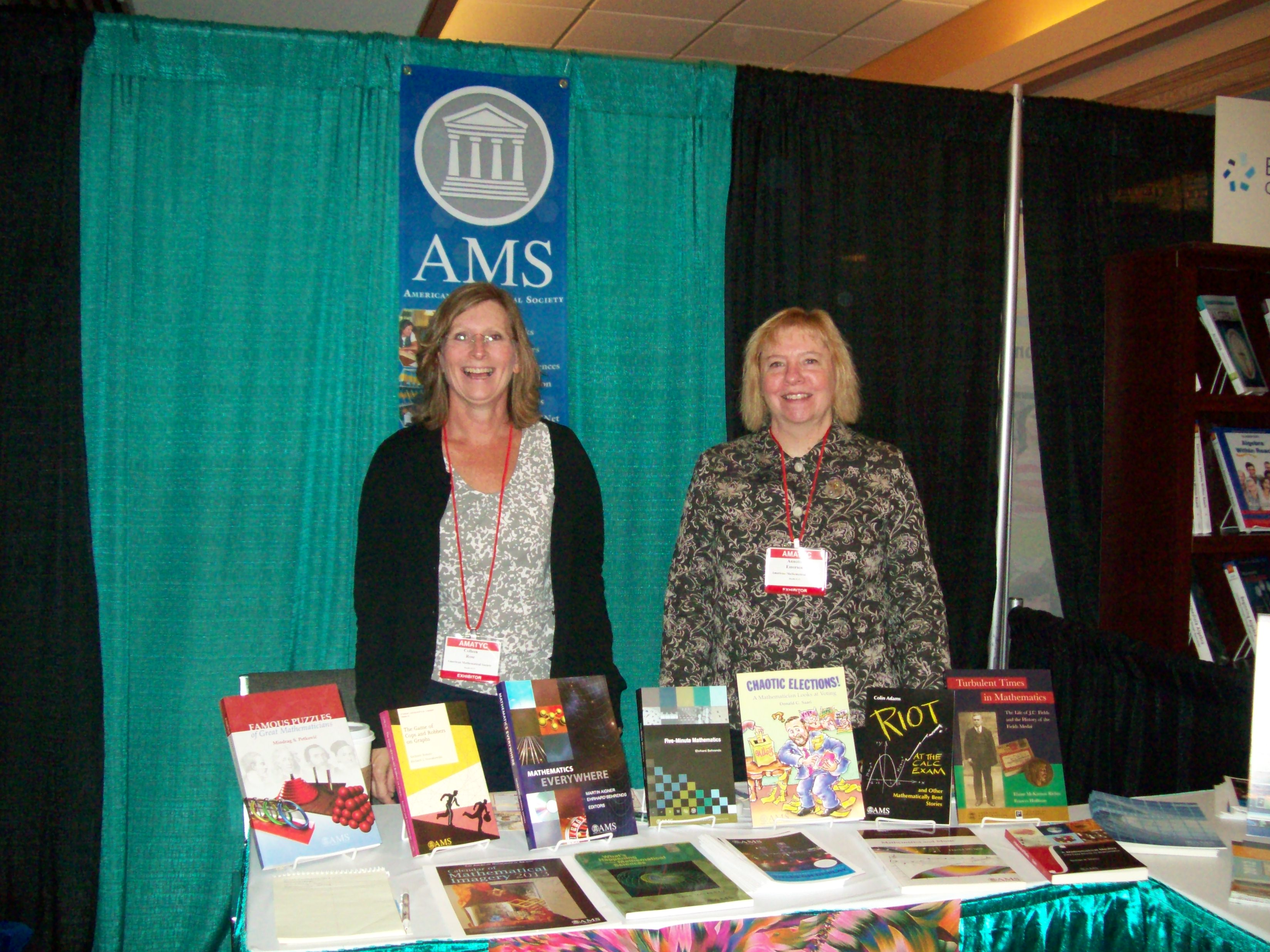 AMS exhibit at AMATYC 2012