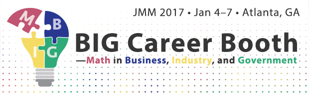 BIG Career Booth: coming to JMM 2017