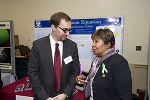 Prof. Philip Gressman with Rep. Eddie Bernice Johnson (TX-30), Ranking Member on the House Committee on Science, Space & Technology