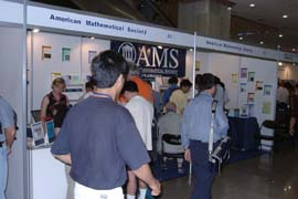 The AMS exhibit at ICM 2002