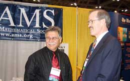 Jim Maxwell and William Velez, founding member and past president of SACNAS