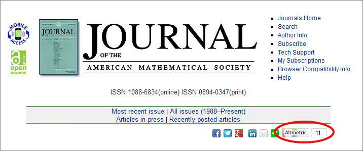 altmetric journal of the american mathematical society
