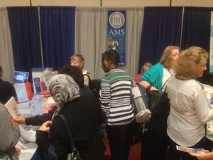 AMS exhibit at AMATYC 2013