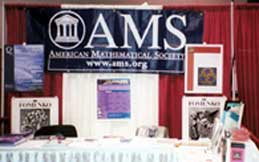 AMS exhibit with materials on graduate programs and careers in math