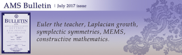 AMS Bulletin: July 2017 issue