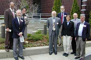 Members of the AMS Executive Council, Board of Trustees, and Executive Director John Ewing