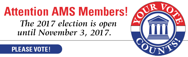 Vote in the 2017 AMS election, open through November 3, 2017