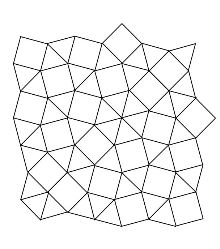 Patch of square and equilateral triangles tiling