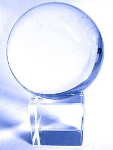 Photo of crystal ball from Wikipedia