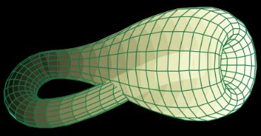 Diagram of a Klein bottle