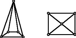 Graphs of a square pyramid