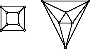 graphs of the regular hexahdron and the regular octahedron