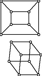 Two graphs of the 3-cube