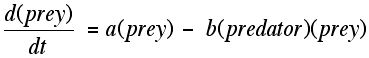 Prey equation of the predator-prey differential equation system