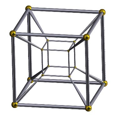 Graph of the 4-dimensional cube
