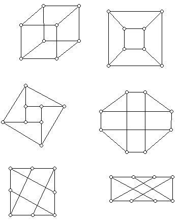 Six drawings of the 3-cube