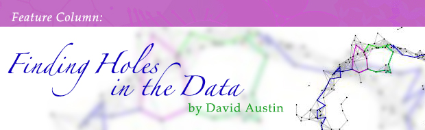 Feature Column: Finding Holes in the Data by David Austin