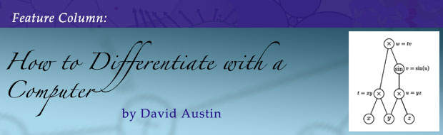 December Feature Column: How to differentiate with a computer by David Austin