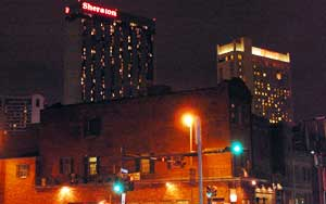 the Sheraton and Marriott hotels