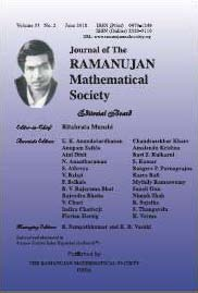 Journal of the Ramanujan Mathematical Society
