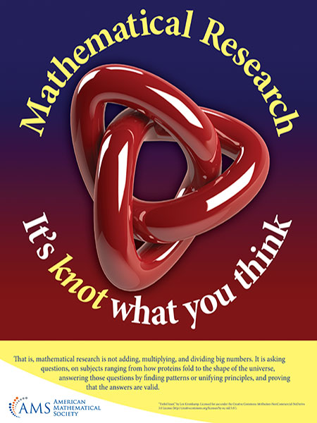 Mathematical Research knot poster