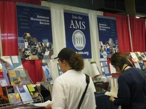 AMS exhibit at MathFest 2009