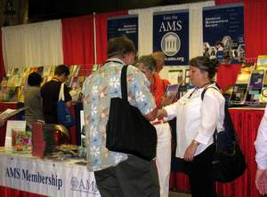 AMS Membership area at MathFest 2009
