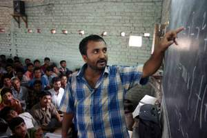 Anand Kumar and students