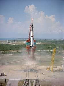 NASA Mercury-Redstone 3 blast-off, May 5, 1961