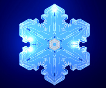 Simulated snowflake