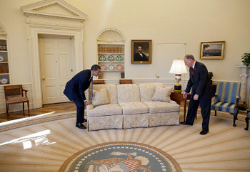 Obama moving Oval Office couch
