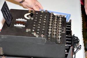 enigma machine at JMM 2011