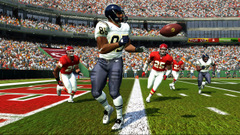 Football video game screen shot