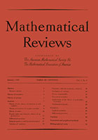 Mathematical Reviews first edition