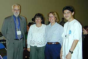 Neil with his teachers and John Ewing