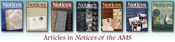 Articles in Notices of the AMS