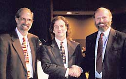 James Sethian, with AMS and SIAM Presidents eisenbud (left) and Hyman(right)