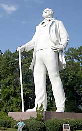 Statue of Sam Houston in Huntsville