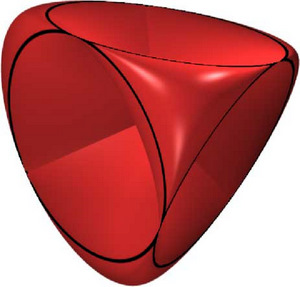Dual pillow spectahedron