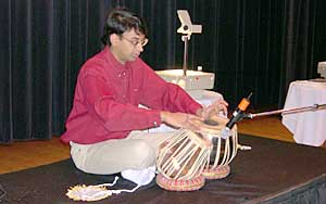 Manjul at the tabla