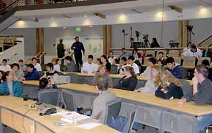 The audience before the lecture