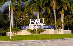 Entrance to Florida Atlantic University