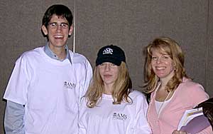 Daniel, Kate, and their teacher Sandy Fish